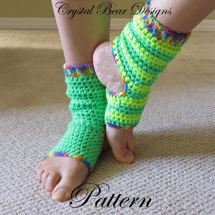 Crochet Yoga Socks PATTERN / Tutorial / Ladies Teen Child All