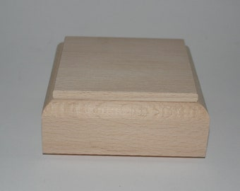 Birch wood box to decorate cm 8x8x4