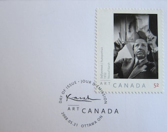 First Day Cover or Day of Issue Canadian Stamps, Yousuf Karsh, 1908-2008 - For Collage & other Multi-Media Projects - Last One In Stock...