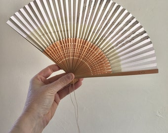 Vintage Wedding 50s Asian Delicate Paper Fan
