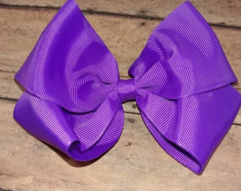 Large Solid Purple Hair Bow / Big Purple Hair Bow / Large Purple Bow. Large Solid Color Hair Bow. Girls Big Purple Hair Bow. Purple Bow