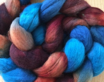hand-painted merino wool roving (top)