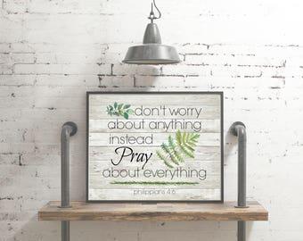 Scripture Printable - Philippians 4:6