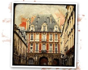 Place des Vosges - Paris - photo d'art signée 20x20cm
