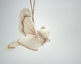 Bird 1st Birthday Gift, Wedding Decoration, Handmade Present, Christmas Decor, Home Decor, Ecofriendly Textile Doll
