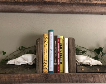 Authentic Coyote Skull Bookends Made With Recalimed Wood