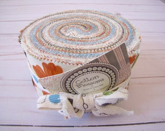 Cotton Blossom (Light Colorway) Jelly Roll by Bonnie of Cotton Way and Camille of Thimble Blossoms for Moda