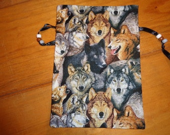 NEW Wolves - Tarot, Runes or Magical Purpose Storage Bag