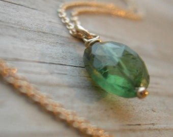 Green Apetite Gold Wire Wrapped Pendant