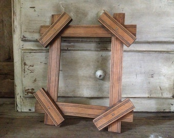 Adirondack Wood Picture Frame, 7 by 9 inches Photo Frame, Antique