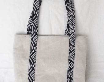 Soft Blue Denim Print Computer Bag | Book Bag, Produce Bag, Reusable Shopping Bag, Denim Bag