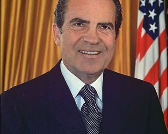 Poster, Many Sizes Available; President Richard Nixon Official White House Photo Of