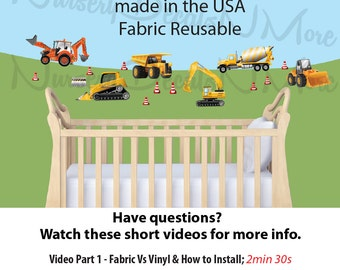 Truck Wall Decal - Boy's Wall Decal - Fabric Wall Decal (Mini Truck Decal)