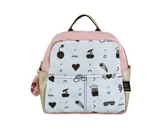 Kids backpack Fun-pink&gold,New Collection,pre-school backpack,  childrens backpack