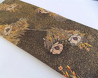 Vintage Polyester Floral Fabric