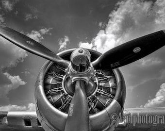Aviation Decor, Aircraft Propeller, Airplane Art, Propeller Print, Airplane Decor, Airplane Wall Art, Aviation Art, Vintage Aircraft Decor