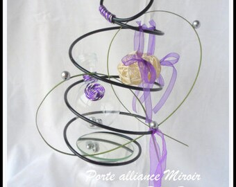 """ring bearer """"mirror"""" ivory and purple"""