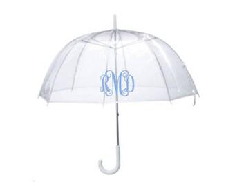 Personalized Clear Dome Umbrella