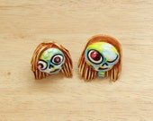 Clay Earrings Skull girls...