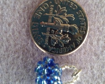 Mini Silverlined Blue Handbag