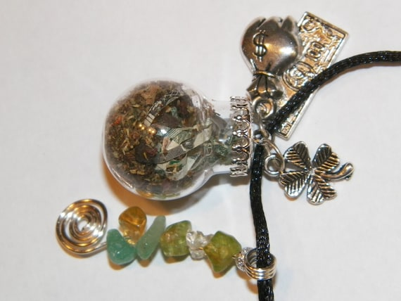 Custom Tiny Witch Ball Necklace Choose Your Intention Made To Order OOAK
