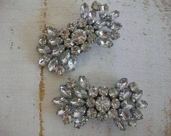 Wedding Shoe Clips - Sparkling Crystal Shoe Clips - Handmade For Wedding Shoes - Rhinestone Shoe Clips- Handmade Wedding Shoe Clips For Shoe