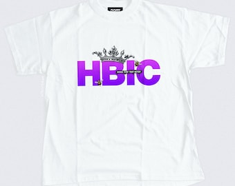 HBIC T-shirt - Head B#tch In Charge - Vintage Crown Illustration - Women's Streetwear - S, M, L, XL, XXL | Made to Order |