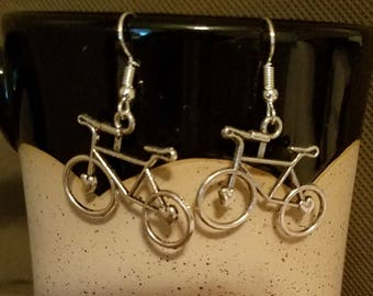Bicycle earrings, Bicycle jewelry, Bicycle riding, Bike Jewelry, bike jewelry, bike earrings, sport earrings