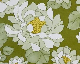 1970s Mod POP ART GREEN Floral Amber Vintage 60s 70s Wallpaper - Retro