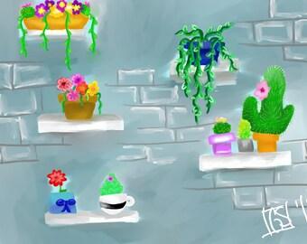 Plant Doodle Digital Drawing