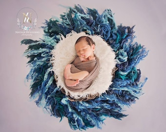 Digital newborn backdrop/ prop - feathered nest (Carly)