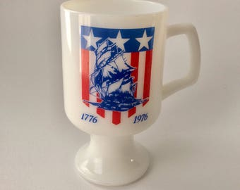 Bicentennial Milk Glass Mug