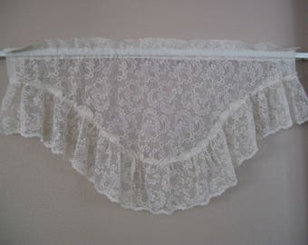 Lace Valance 36 wide and 22 long-Antique White