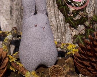 Bunny - Handmade Easter Bunny - Rabbit - Stuffed Bunny - Wool Felt Animal - Teddy Bear Toy - Miniature Rabbit - Woodland Friend