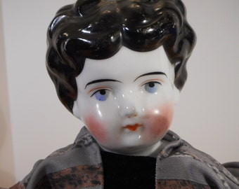 1890's China doll head ,reproduction body