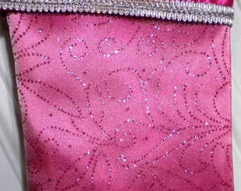 Christmas Stocking in Glittery Pink