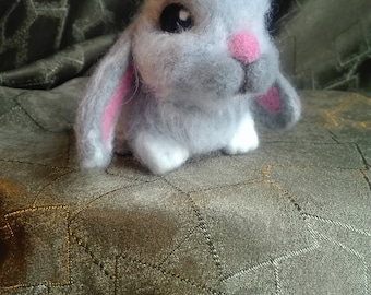 the soft toy rabbit felted