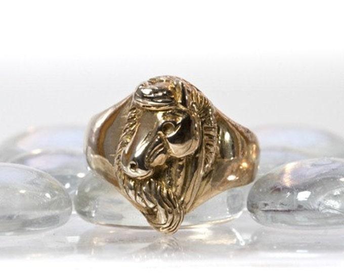 Horse Ring in Antique Bronze