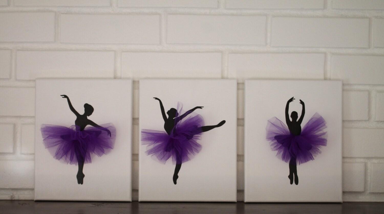 Ballerina-Kindergarten lila grau Kinderzimmer