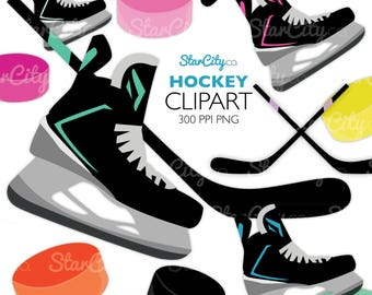 Hockey clipart, Hockey clip art, Hockey puck clipart, Hockey stick clipart, Sport clip art, Sport graphics, Digital Graphics, commercial use