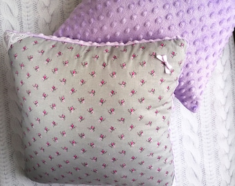 Violet cushion Royal purple decor violet pillow decorative pillows Soft minky pillow violet room decor Minky pillow