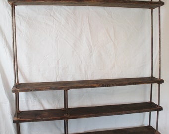 Industrial Shelving/TV Unit- Custom Built- 25% off to SF Bay Area Residents