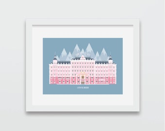 The Grand Budapest Hotel, Wes Anderson Print