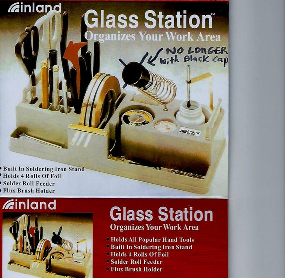 CLEARANCE ITEM Soldering Glass Station Tool Organizer Storage