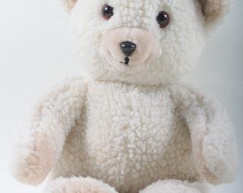 Snuggle Bear, Stuffed Animal, fabric Softener, White Bear, Soft, Plush, Doll, Toy, Snuggle, Animal, Children, Collection, Vintage ~ 170225