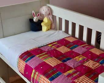 Patchwork Blanket for Baby bed