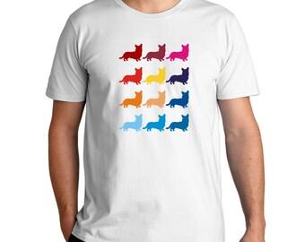 Colorful Cardigan Welsh Corgi T-Shirt
