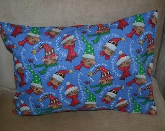 Travel Pillow Case / Child Pillow Case CHRISTMAS SANTA Cats, Kittens, Kitties