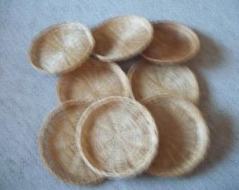 Lot of 8 Wicker Paper Plate Holders