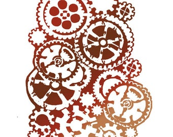 Stencil pattern wheels KSTD002 stamperia